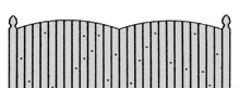 solid board fencing styles